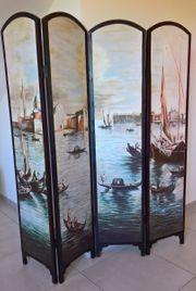 Venezianischer Raumteiler Paravent massiv Holz