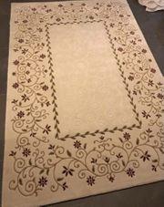 Teppich 160x230 Kurzflor beige