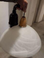 Glaskristalllampe weiß transparent Esstischlampe