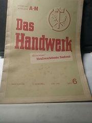 Zeitschrift Das Handwerk 1951 52