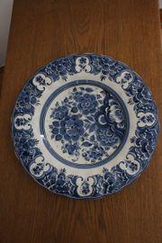 Teller Porzellan Delft Blaumalerei guter