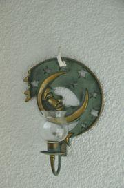 Kerzenhalter Wandmontage Metall Mond tolle