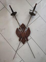 2 Dekoschwerter incl Holzwappen und