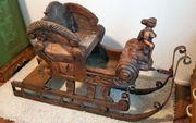 Antik Schlitten Barock Amazone Galionsfigur