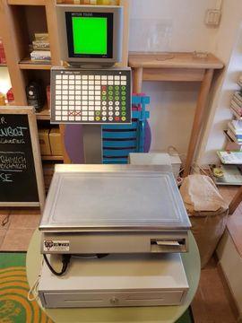 Gastronomie, Ladeneinrichtung - Kassensystem Kassenwaage mit Geldschublade METTLER