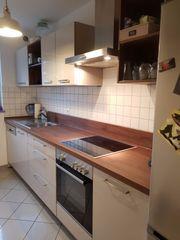 Moderne Küchenzeile TOP-ZUSTAND beige-hochglanz Mannheim