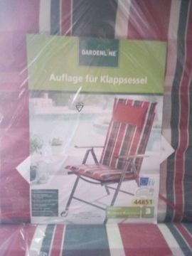 Auflagen für Klappsessel/Hochlehner 4 Stück original verpackt
