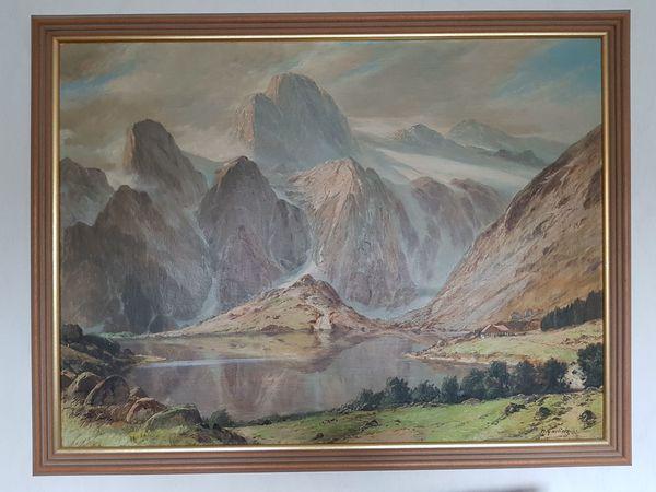 Hermann Garling Gemälde Tatra Öl