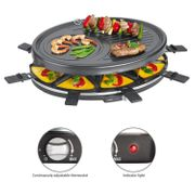 2 Personen Gourmetmaxx Mini Raclette Grill f 350W 2in1 Heißer Stein /& Raclette
