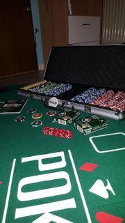 Pokerkoffer und Pockertischauflage