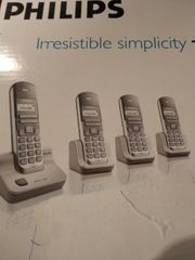 Telefonset mit 4 Geräten