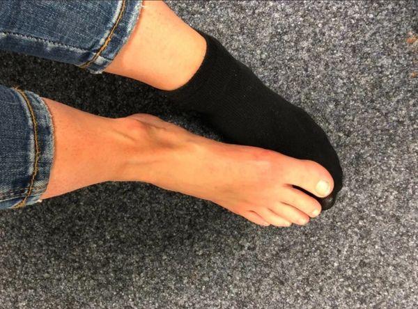 Heiße getragene Socken oder lieber