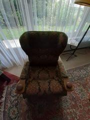 2 rustikale Sessel Massivholz noch