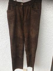 Braune Wildlederhose von Hammerschmid