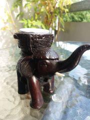 Glückselefant Kerzenhalter Teelichter Deko Dekofigur