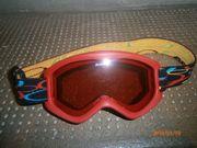 Alpina Kinder Skibrille rot