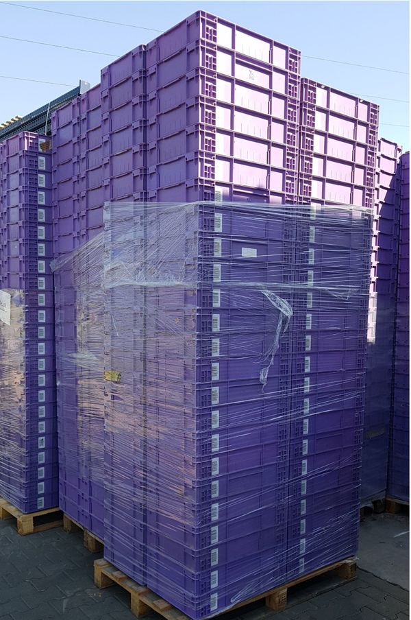 Stapelkisten 100 Stück Lagerkisten Kunststoffboxen