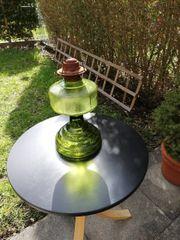 ALTE Petroleumlampe Glas grün
