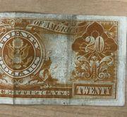 1905 20 GOLD CERTIFICATE TECHNICOLOR