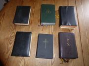 Ältere Gesangbücher und Bibeln