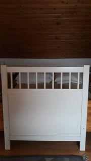 Bett 90x200 cm weiß