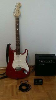E-Gitarre Fender Squier mit kleinem