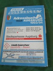 Adressbuch Stadt Augsburg 1993 94
