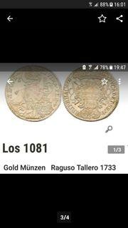 Münzen sehr schon vergoldet