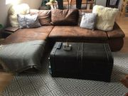 Couch aus Kunstleder im Vintage