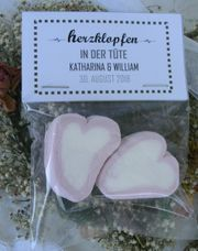Gastgeschenke Deco Hochzeit Herzen Marshmallow