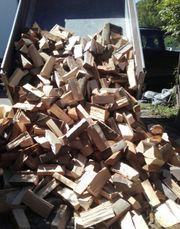Brennholz Buche Eiche Esche zu