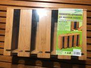 Teebeutel-Spender aus massivem Bambus NEU