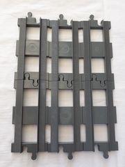 Baukästen & Konstruktion Lego Duplo Eisenbahn Schienen  1 Stück Gerade  dunkelgrau Neuwertig