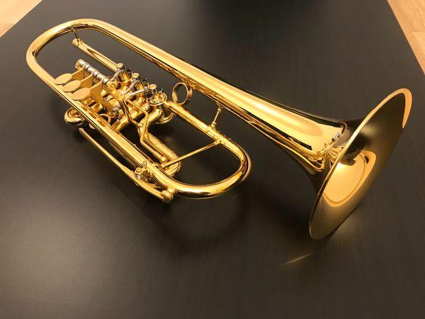 Martin Böhme B Konzerttrompete ARCANUS Gold NEUWERTIG Trompete
