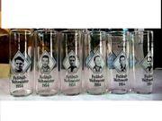6 Bier-Gläser mit Bildern von