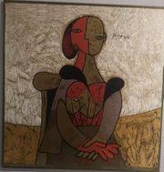 Seidendruck Bild P Picasso Frau