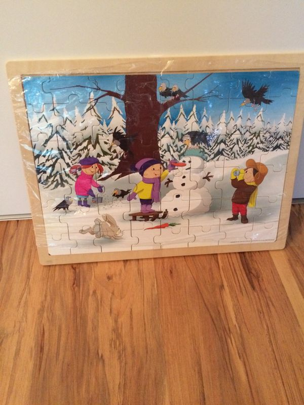 Holzpuzzle Winter