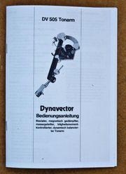 Bedienungsanleitung Dynavector DV 505 Tonarm