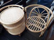 Teewagen Beistelltisch Rattan