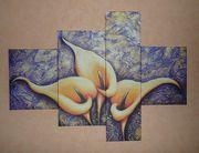 Druck-Ensemble Drei Lilien