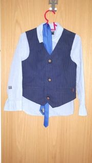 Kinder Hemd Weste Krawatte 116