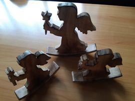 3 Holzengel zur Deko
