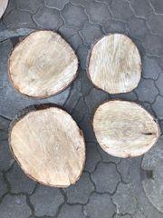 DIY-Tisch Baumscheibe Holzscheibe Pappelholz