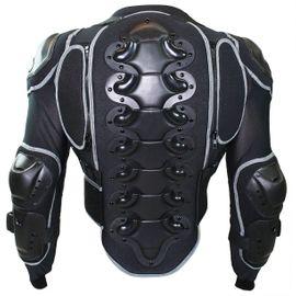 Motorradbekleidung Herren - Motorrad Protektorenjacke schwarz grau