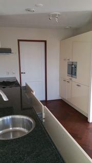 Moderne Einbauküche Magnolia Lack-Fronten mit