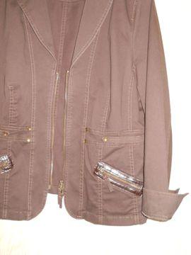Damenbekleidung - schicker brauner Jeans - Blazer Gr