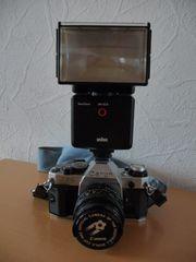 Canon AE-1 Programm mit Zubehör