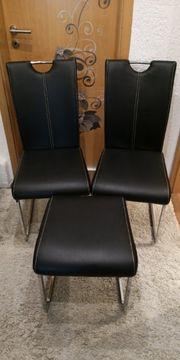 2 Stühle Esszimmerstuhl Schwingstuhl und