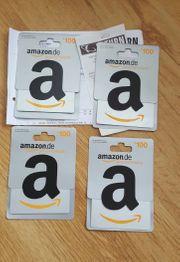 Amazon Gutschein 4 x 100