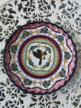 Talavera Teller Boho Folklore Handbemalt Mexiko